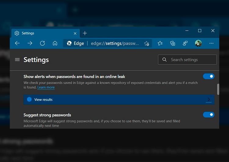 Microsoft Edge 88 предупредит об «утёкших» паролях