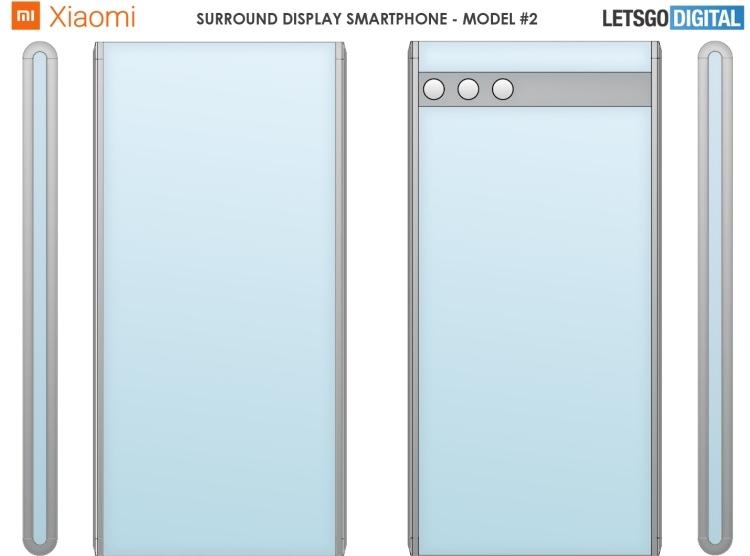 Xiaomi запатентовала два новых дизайна смартфонов, обёрнутых экраном