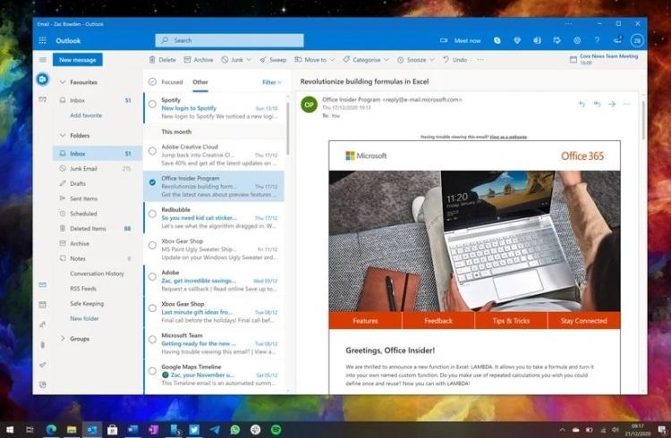 Microsoft разрабатывает новое приложение Outlook для Windows и Mac