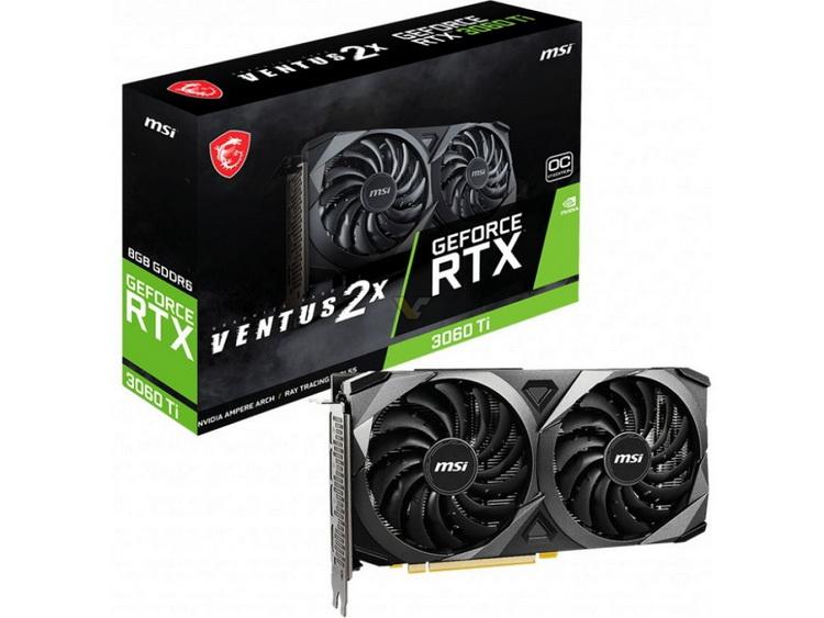 MSI представила компактную GeForce RTX 3060 Ti Ventus 2X OC V1