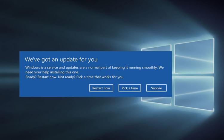 Microsoft исправила баг Windows 10, из-за которого ОС принудительно перезагружалась