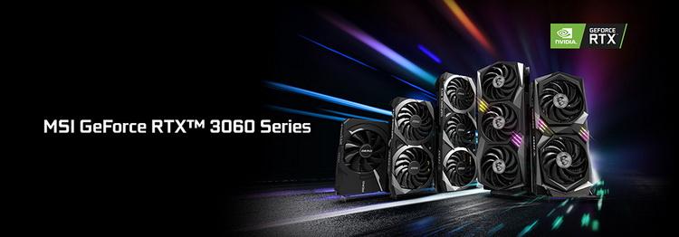 На любой вкус: MSI представила сразу 10 вариантов GeForce RTX 3060