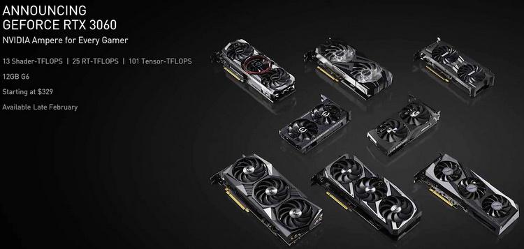 NVIDIA подтвердила, что не станет выпускать эталонный вариант GeForce RTX 3060