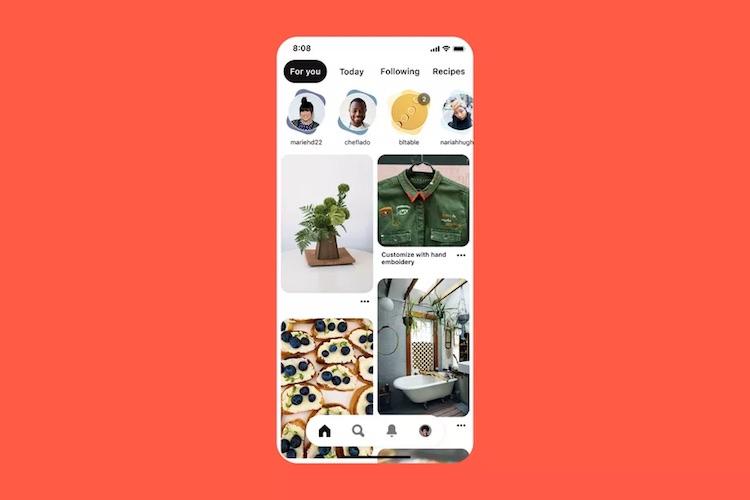Приложение Pinterest обзавелось каруселью историй, как у Instagram, но по-другому