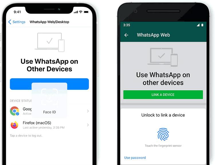 В настольной версии WhatsApp появилась биометрическая идентификация