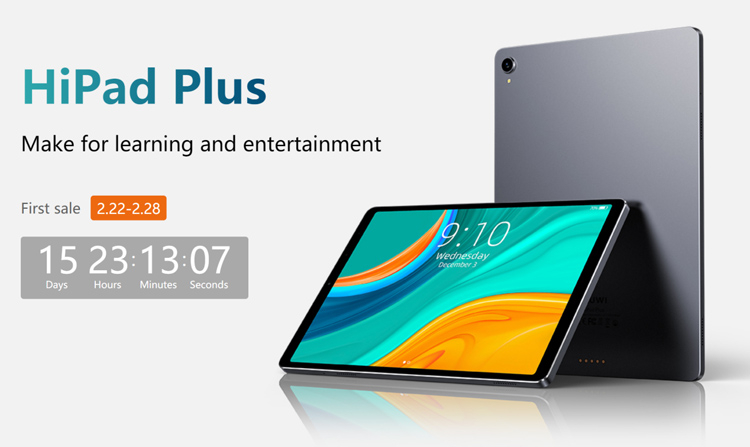 CHUWI представила Android-планшет Hipad Plus с 11-дюймовый 2K-дисплеем