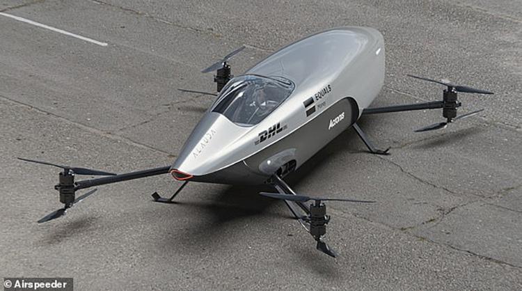 Представлен первый в мире гоночный летающий автомобиль со максимальной скоростью 120 км/ч