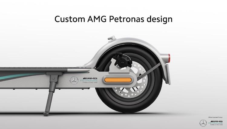 Xiaomi совместно с Mercedes-AMG Petronas выпустила специальную версию электросамоката Mi Electric Scooter Pro 2