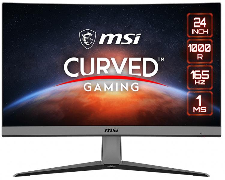 Игровой монитор MSI MAG Artymis 242C получил вогнутый экран с радиусом кривизны 1000R