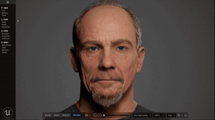 Epic Games представила инструмент MetaHuman для создания реалистичных лиц прямо в браузере
