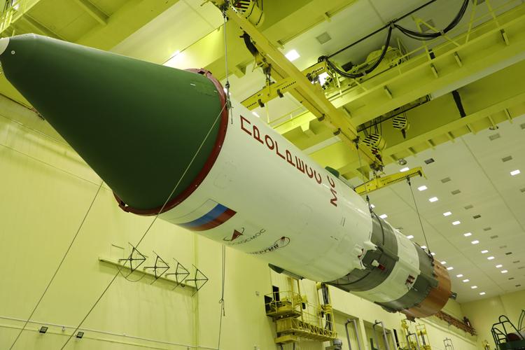Роскосмос показал ракету «Союз-2.1а» с кораблём «Прогресс МС-16», который скоро отправится к МКС