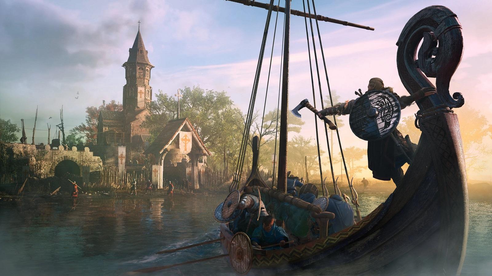 С сегодняшним патчем в Assassin's Creed Valhalla появятся речные набеги и новые умения