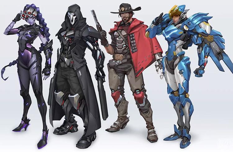 Blizzard представила свежий дизайн ряда героев Overwatch 2 и рассказала о новом персонаже