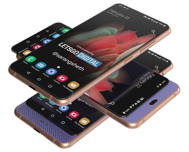 Samsung запатентовала смартфон в виде двойного слайдера со скрытыми камерами и динамиком