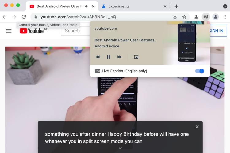 В десктопной версии Google Chrome появилась поддержка автоматических субтитров