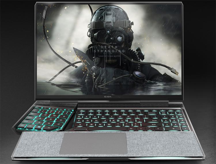 Compal показала игровой ноутбук Spark с отодвигающимся блоком кнопок