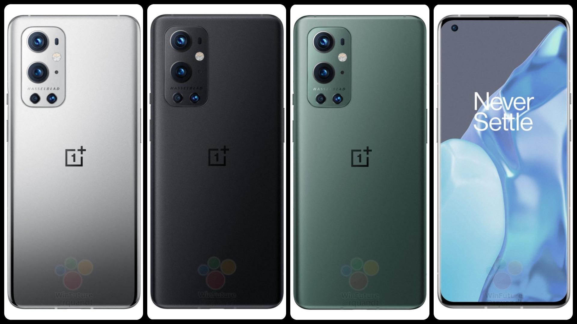 В Сеть утекли официальные рендеры OnePlus 9 и OnePlus 9 Pro