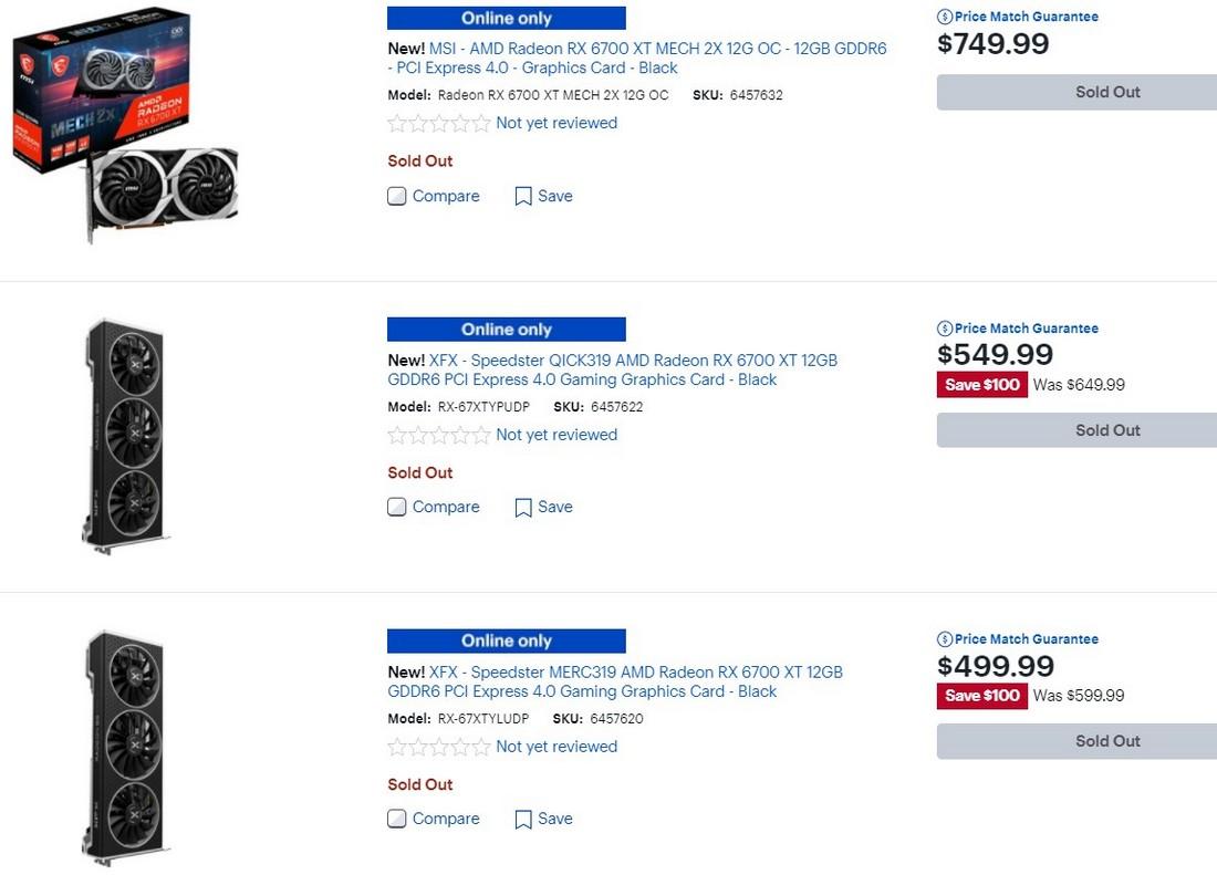 Сегодня начались продажи Radeon RX 6700 XT. В России их ещё не раскупили — спасли «рыночные» цены