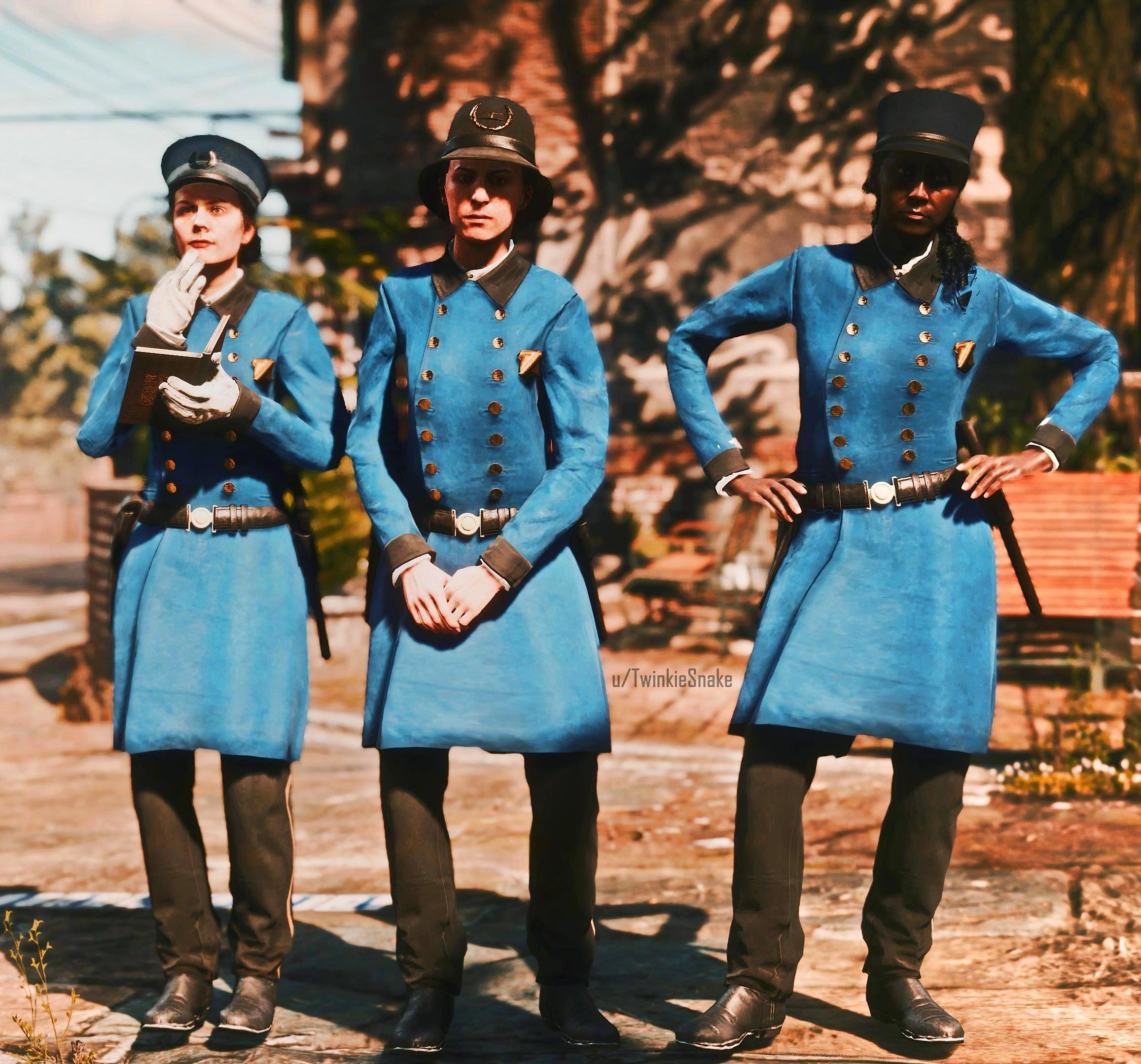Суфражистки, ещё рано: в файлах Red Dead Redemption 2 нашли незаконченные модели женщин-полицейских из Сен-Дени