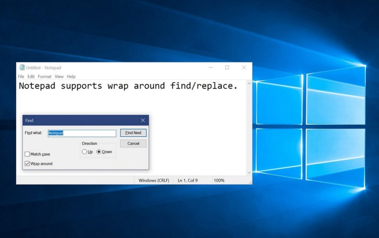 Microsoft сделала «Блокнот» в Windows 10 самостоятельным приложением