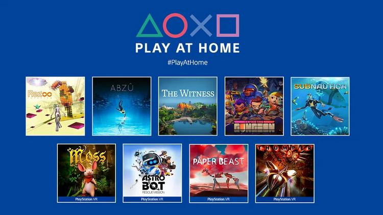 В PlayStation Store в рамках инициативы Play at Home началась раздача девяти игр