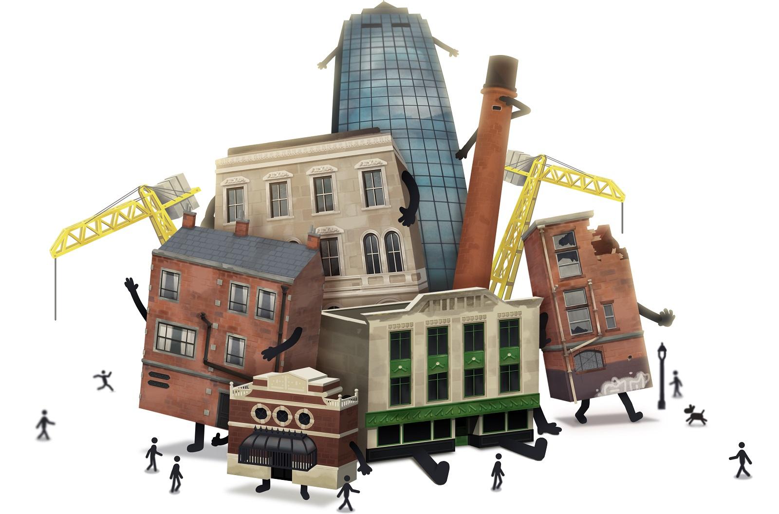 Необычный симулятор управления городом Buildings Have Feelings Too! получил окончательную дату выхода — 22 апреля