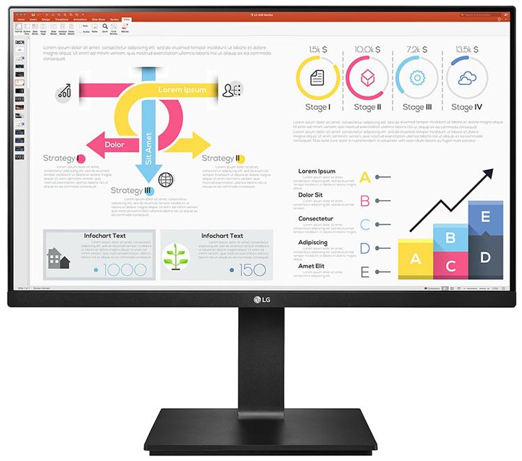 Представлен монитор LG 24QP750-B для работы и развлечений с разрешением 1440p и портом USB Type-C