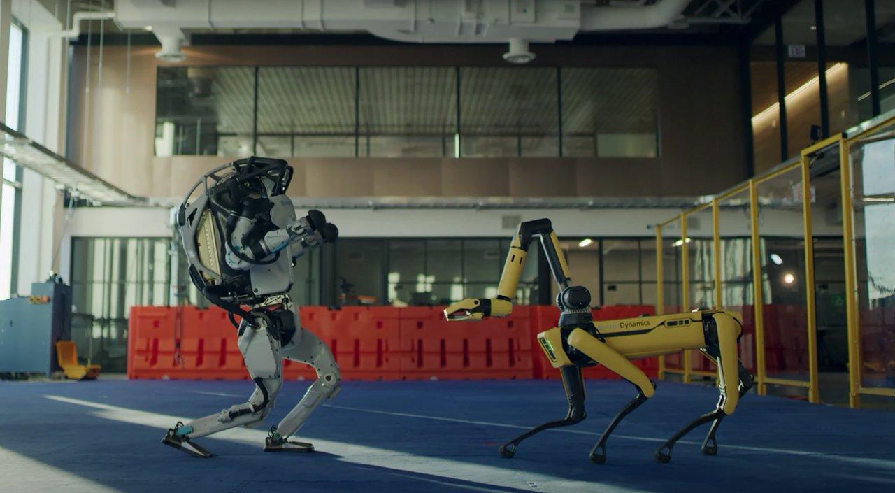 Видео дня: зажигательный танец от роботов Boston Dynamics