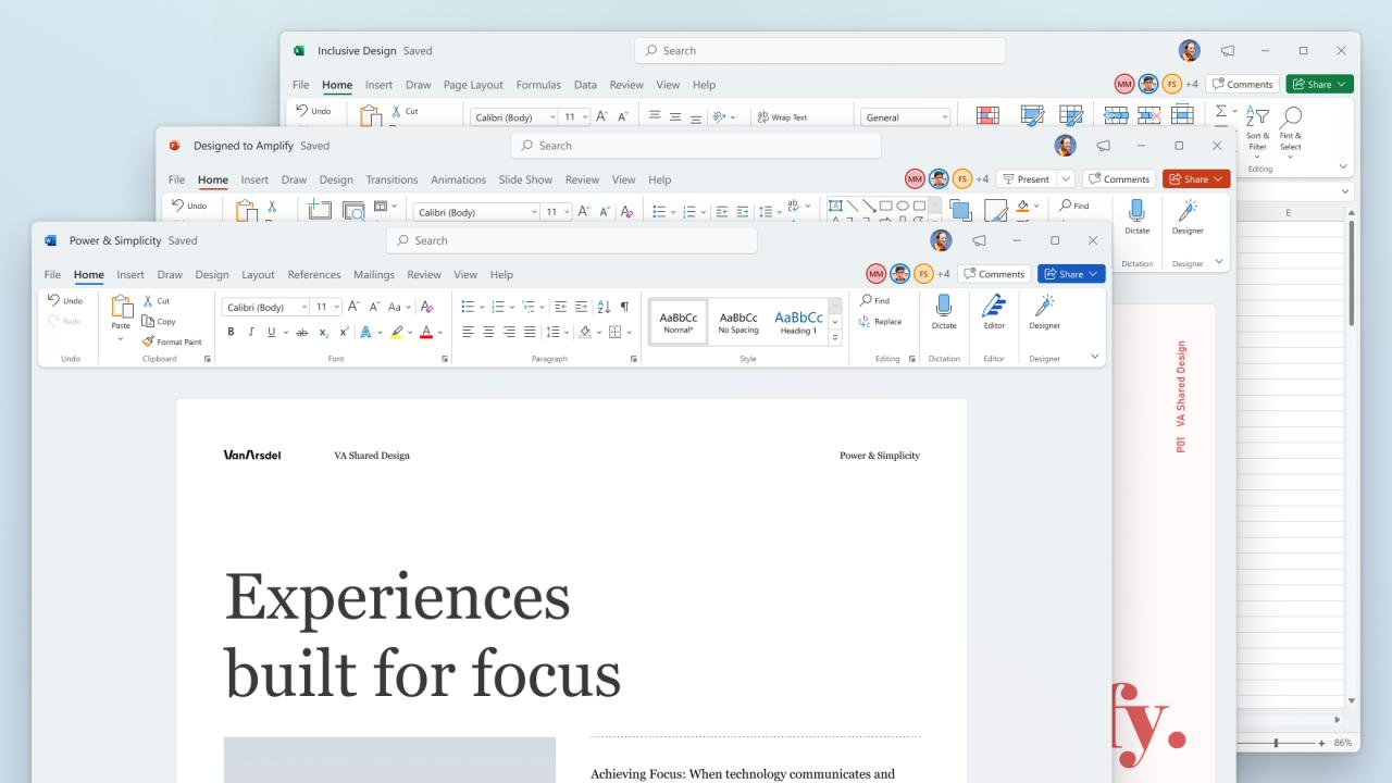 Новый дизайн Microsoft Office стал доступен для тестирования