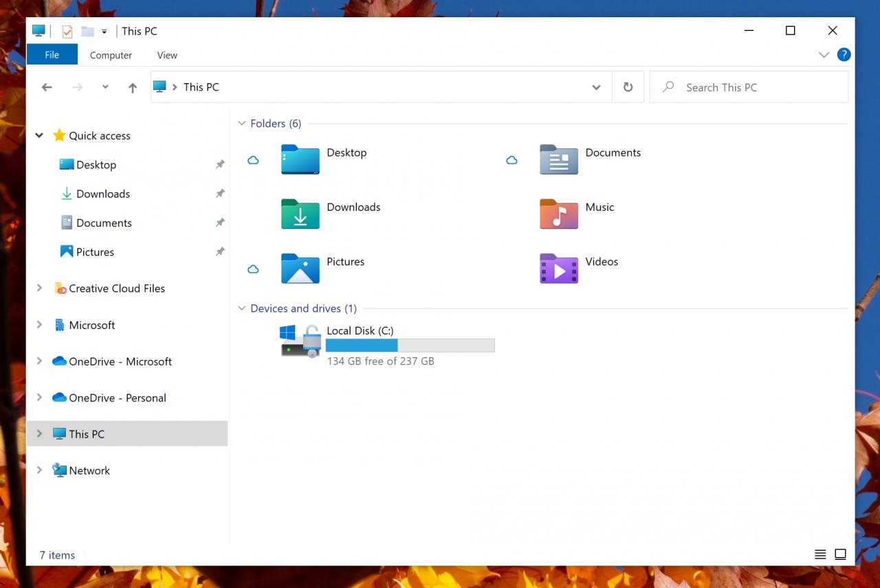 Новые иконки «Проводника» появились в Windows 10 Build 21343