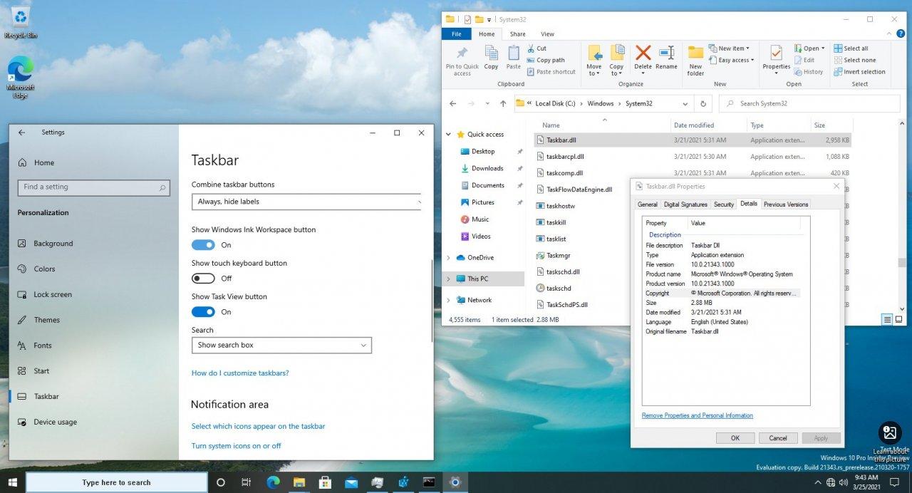 Microsoft отделяет панель задач от Explorer.exe в Windows 10