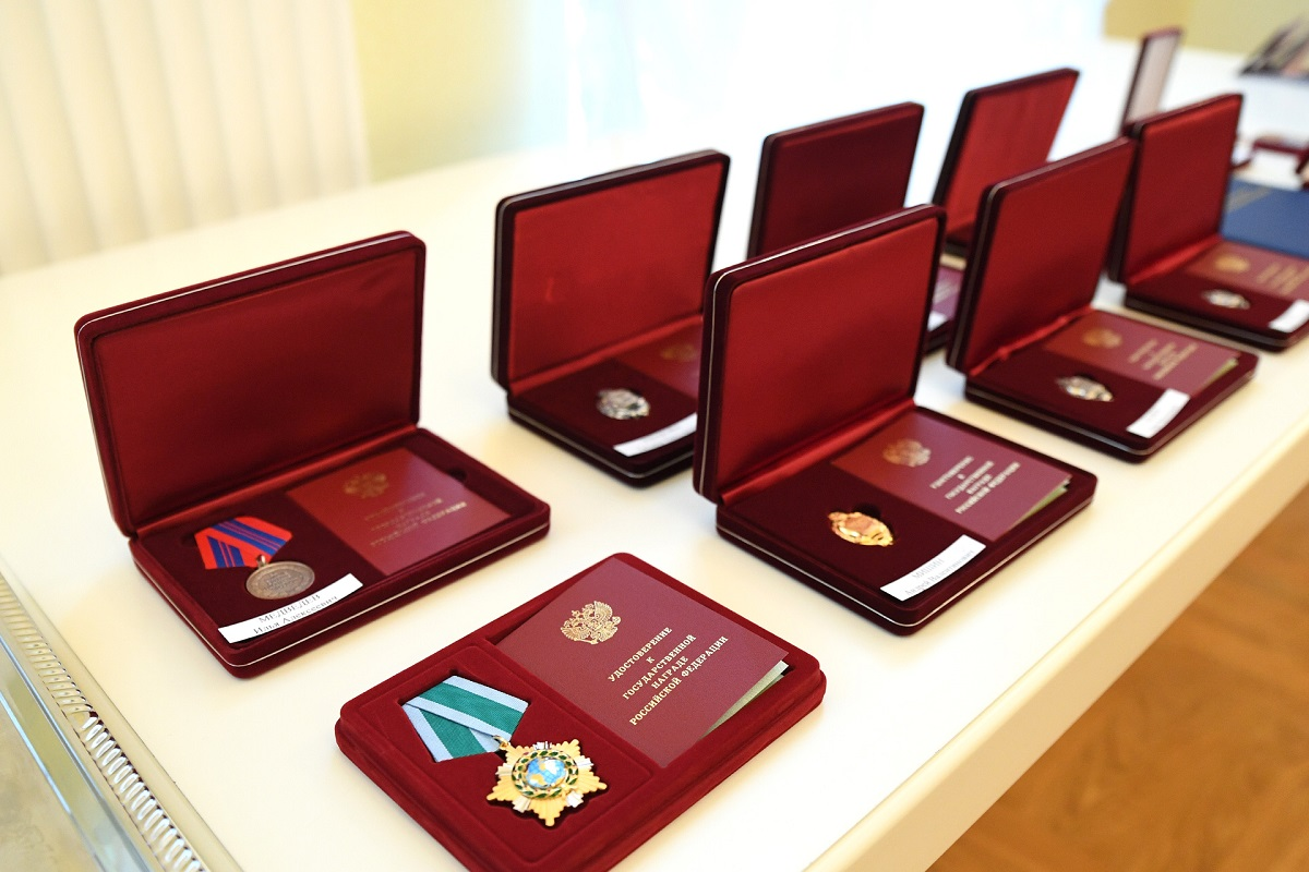 В канун Дня Конституции жителям Тверской области вручены государственные и региональные награды