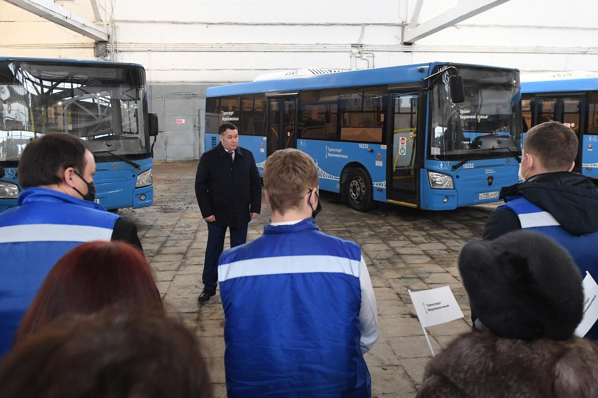 Автобусы 'Транспорта Верхневолжья' уже год колесят по дорогам Тверской области