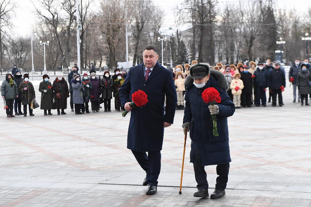 В Твери почтили память защитников Сталинграда