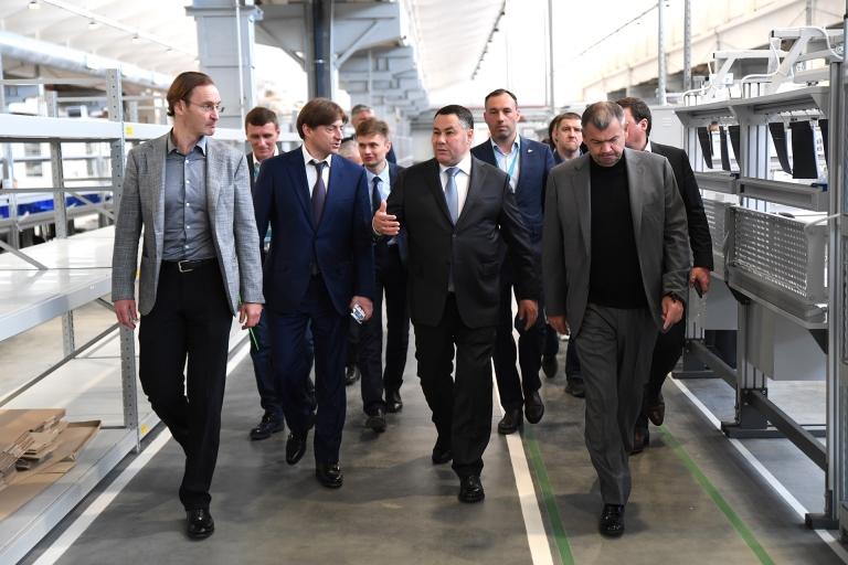 Игорь Руденя с президентом и генеральным директором АО «Трансмашхолдинг» посетили производственные площадки в Тверской области
