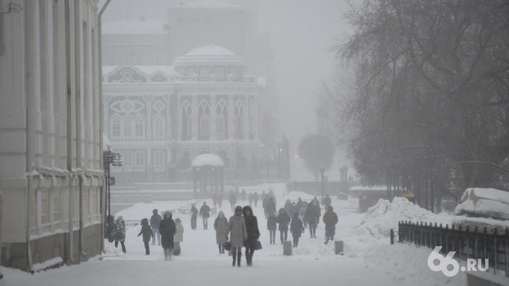 После тридцатиградусных морозов в Екатеринбург придут сильные снегопады