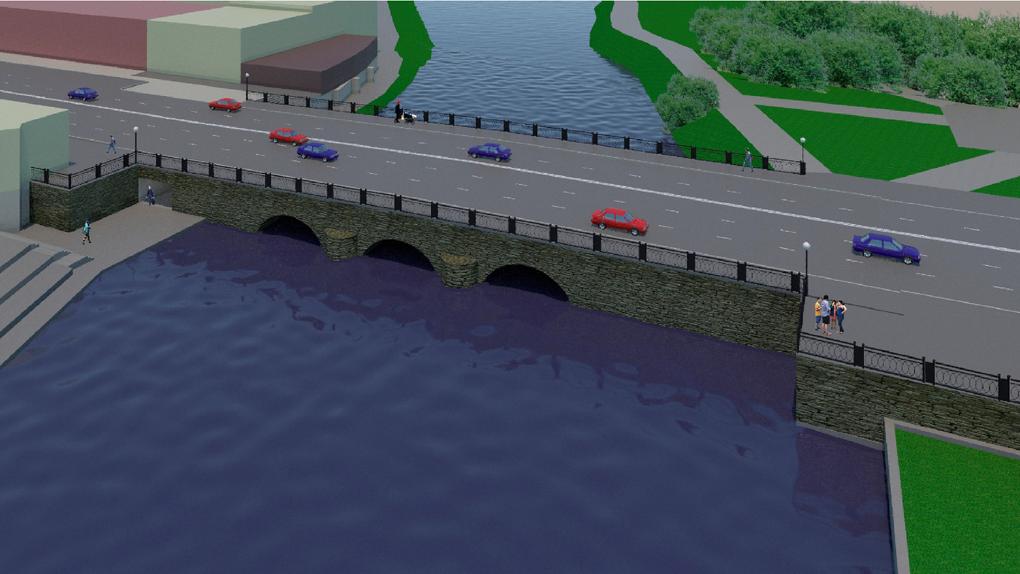 Горадминистрация собирается расширить старинный мост на Малышева с двух полос до пяти. Как это сделают?