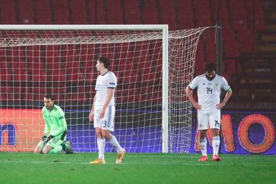 Черчесов отказался говорить об отставке после разгромного поражения в матче Лиги Наций со сборной Сербии
