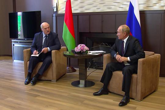 В Кремле назвали откровенной встречу Путина и Лукашенко в Сочи