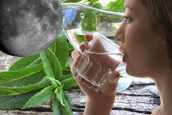Секрет растущей Луны — Вода и мята избавят от комплексов