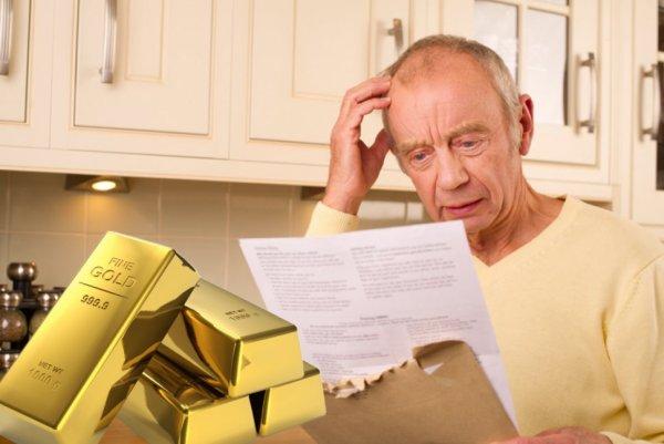 Пенсии и пособия заплатят золотом? Банкротство ПФР приведет к раздаче золотых запасов населению