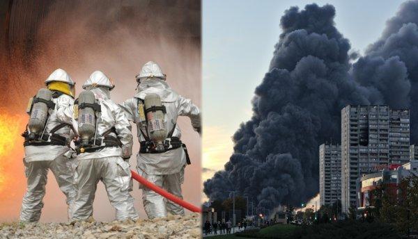 Кадры сильного пожара в деревне Гольево попали в Сеть