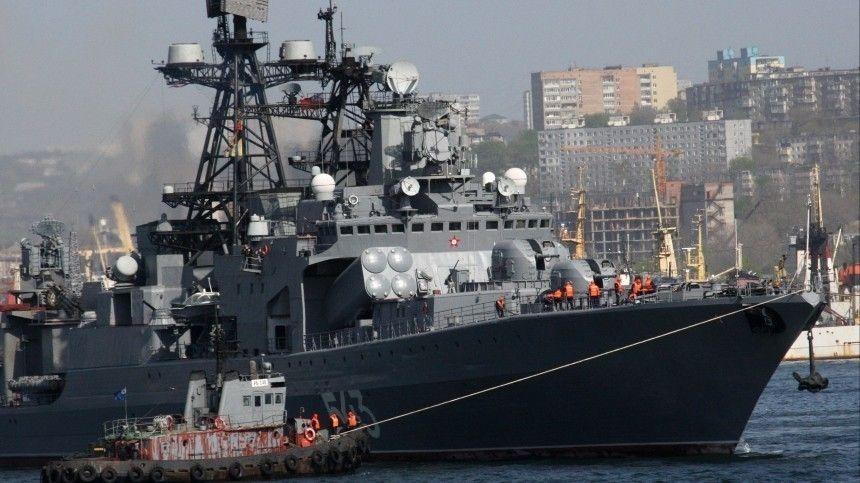 Фрегат «Маршал Шапошников» отстрелялся крылатыми ракетами в Японском море