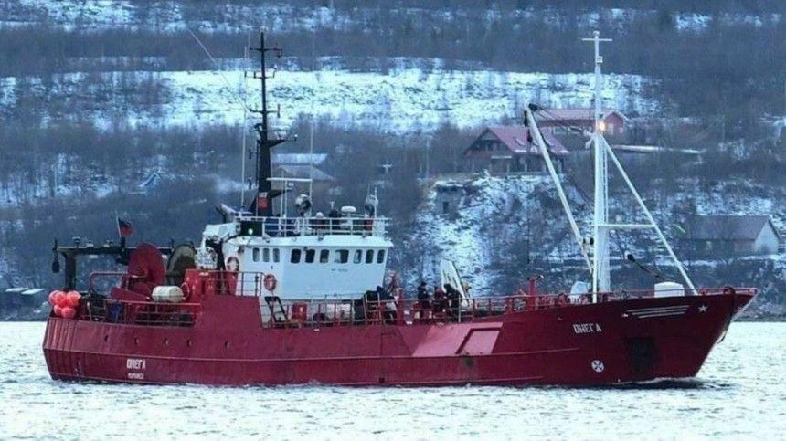 Уголовное дело возбуждено по факту затопления судна «Онега» в Баренцевом море