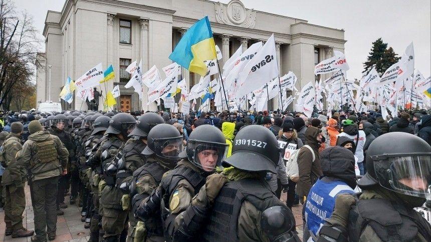 Около 40 полицейских пострадали в ходе акции протеста предпринимателей в Киеве