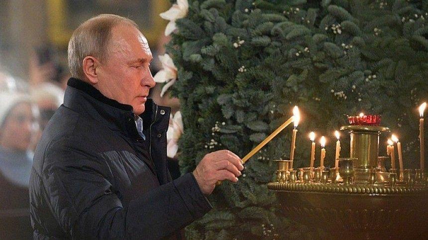 Владимир Путин встречает Рождество в Новгородской области