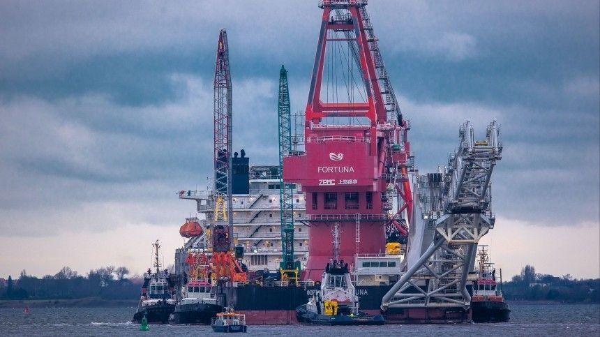 Трубоукладчик «Фортуна» возобновил строительство «Северного потока — 2»