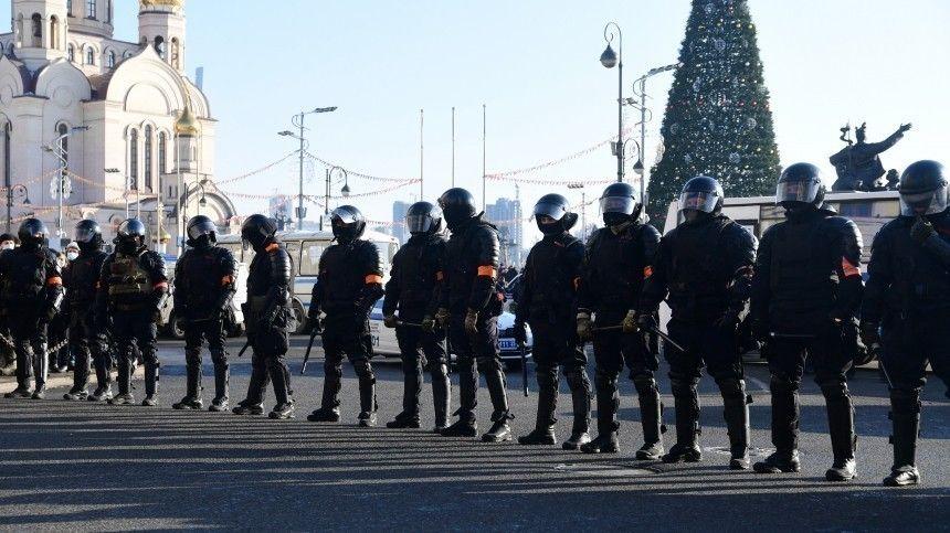 Во Владивостоке задержан стрелявший из ракетницы участник незаконной акции 23 января