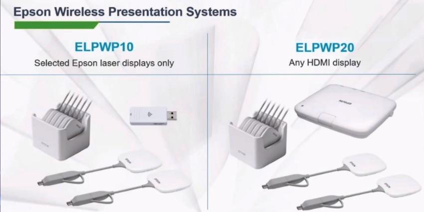 Epson расширяет ассортимент беспроводных презентационных систем вариантами с внешними кнопками