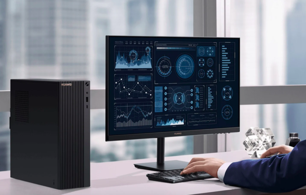 Huawei показала настольный компьютер в сборе с фирменным монитором